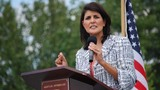 Haley 'not a fan' but will vote for Trump