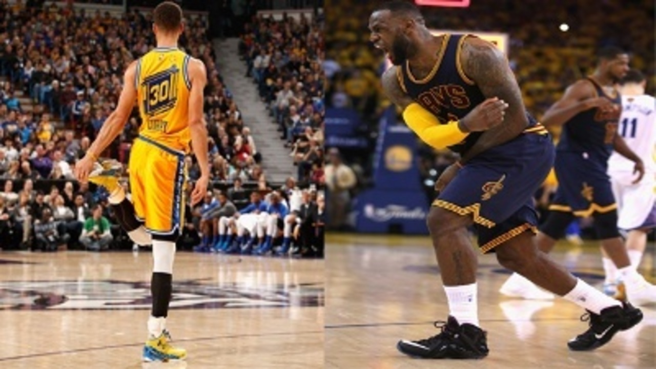 NBA Finals: Under Armour's Steph Curry vs Nike's LeBron James
