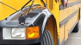 Florida school bus strikes deer