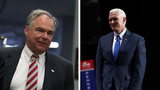 Pence and Kaine: VP opponents, US Marine dads