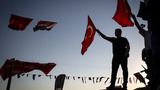 Turkish demonstrators gather to reject coup