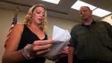 Recovering heroin addict thanks officer who arrested her
