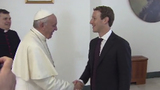 Mark Zuckerberg gives Pope Francis a drone