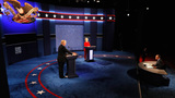 Clinton goes after Trump at first debate