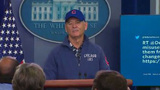 Bill Murray holds court with reporters in White House briefing room
