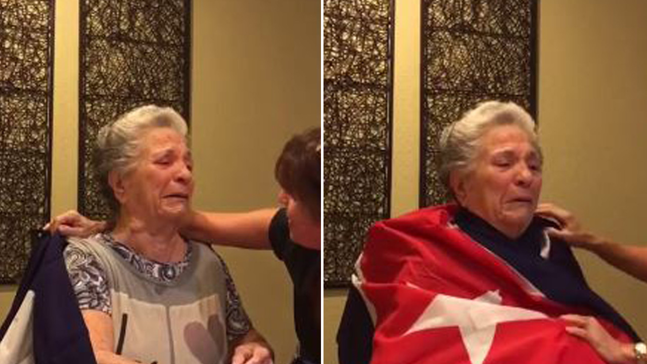 Grandma with alzheimer 39 s bursts into tears of joy at the for Fred s fish fry