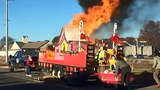 Christmas float catches fire after 'Grinch' flicks cigarette