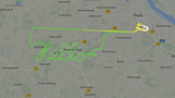 Sky art: Pilot's route spells 'Hello' on flight tracking radar map