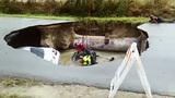 Texas officer dies after car plummets into sinkhole