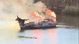 Man survives yacht fire