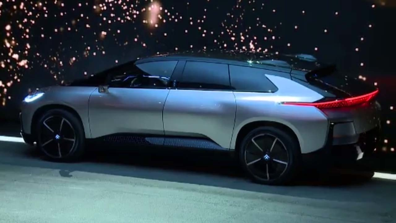 Faraday Future unveils slick car amid turmoil