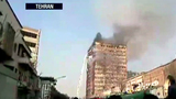 Tehran building collapses after blaze, dozens trapped