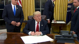 Trump signs executive order on Obamacare&#x3b; enacts regulatory freeze