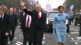 Trump greets crowds during inaugural parade