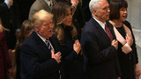 On Day Two, Trump prayed, met the CIA and attacked the press