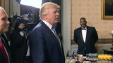Trump softens tone in Sunday appearance