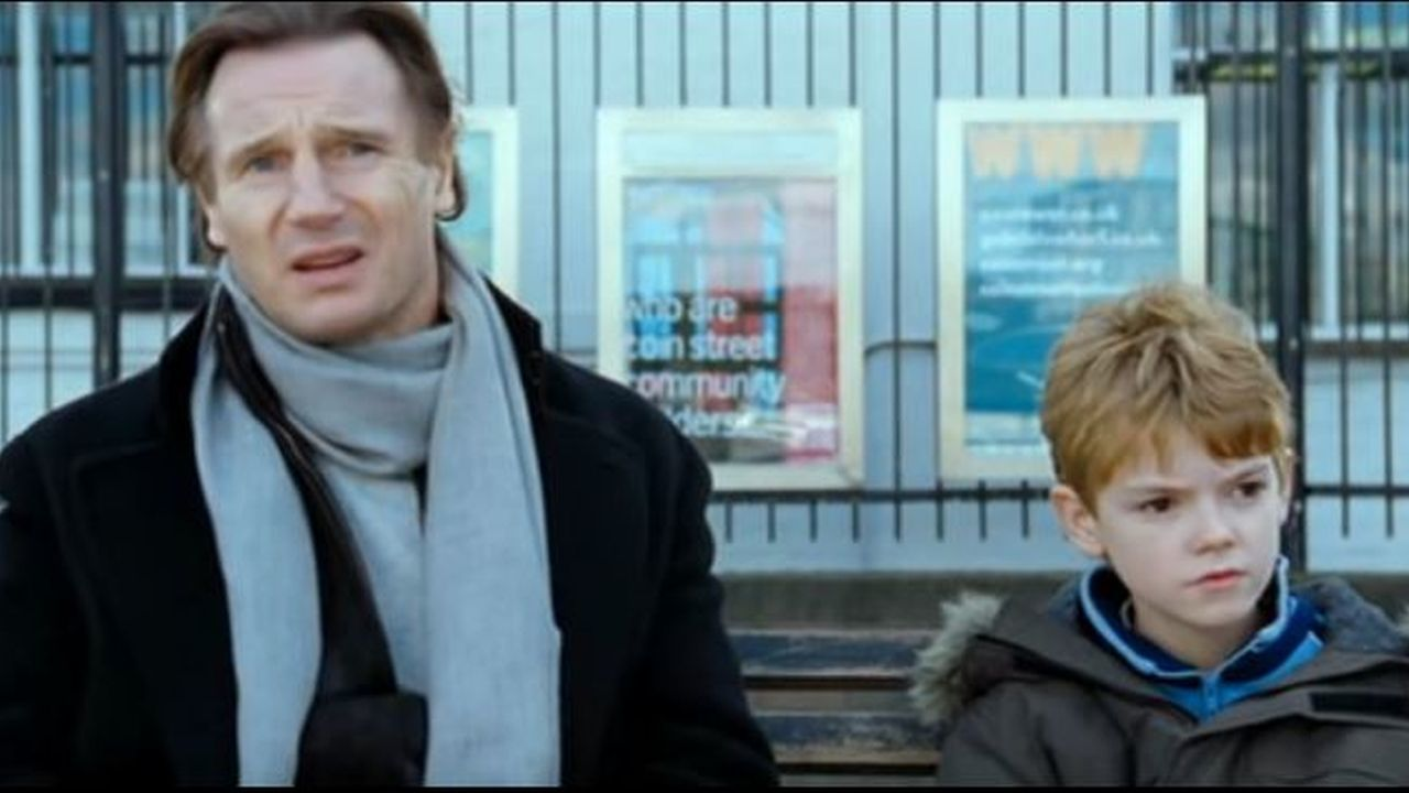 Liam neeson reunites with onscreen son thomas brodie for Laporte county clerk s office