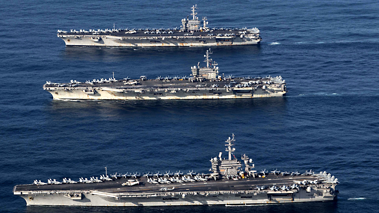 US puts on 3-carrier show of force for first time in decade