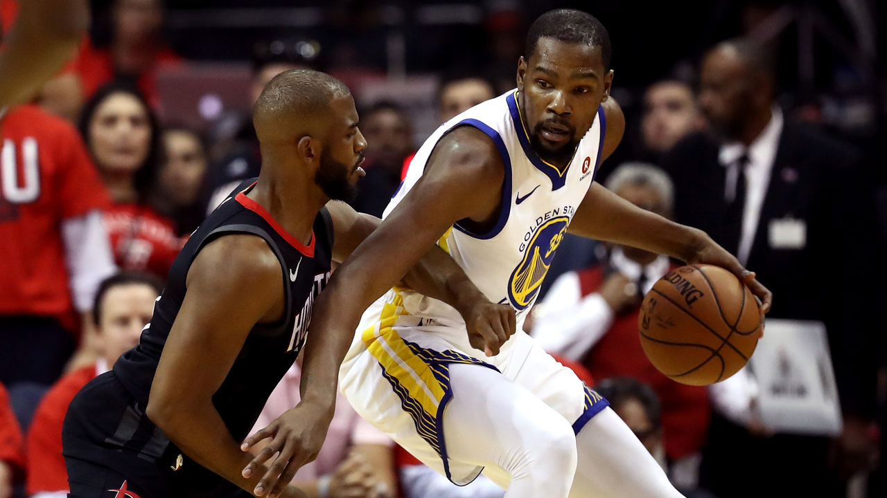 Durant, Warriors beat Rockets in Game 1