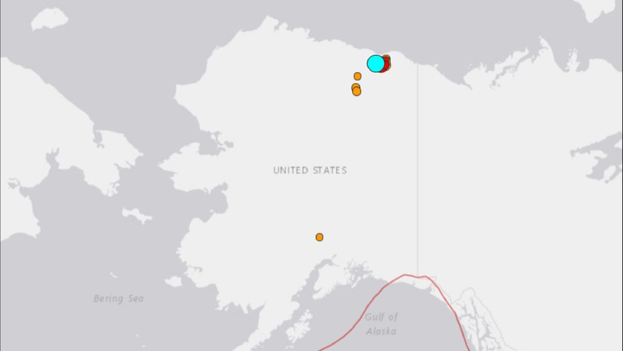 Earthquake reported in Alaska, no reports of injuries or damage